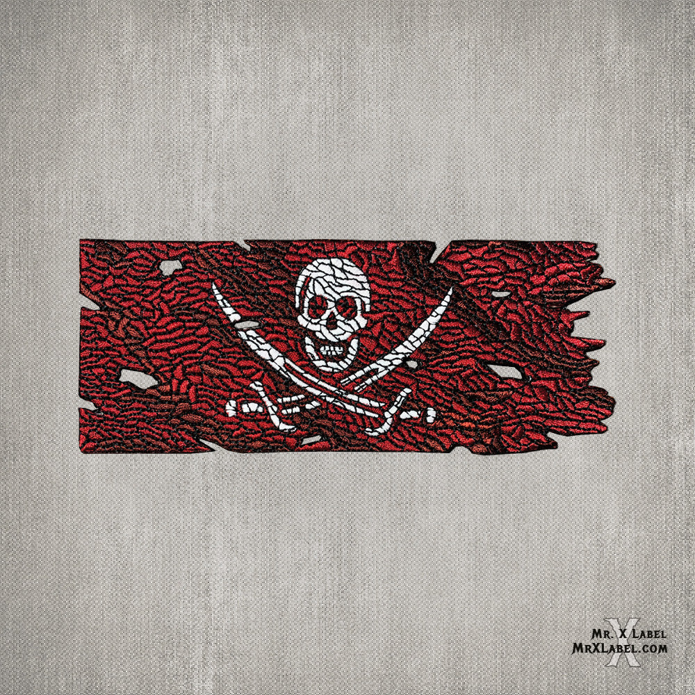 Pirate Flag v1.3 (Red Jack) Embroidered Patch