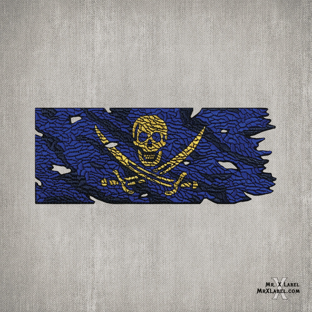 Pirate Flag v1.5 (Blue Jack) Embroidered Patch