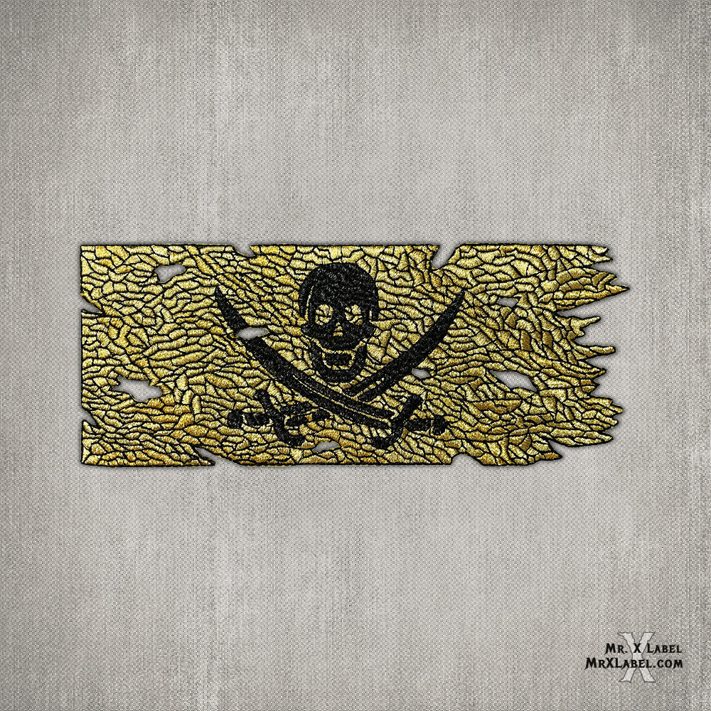Calico Jack Pirate Flag Patch - Double Gold (v1.6)