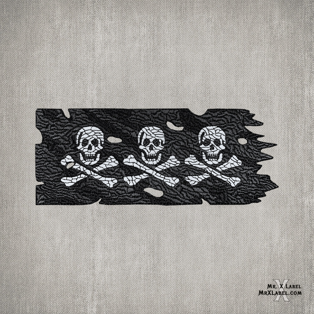 Pirate Flag v3 (Glow) Embroidered Patch