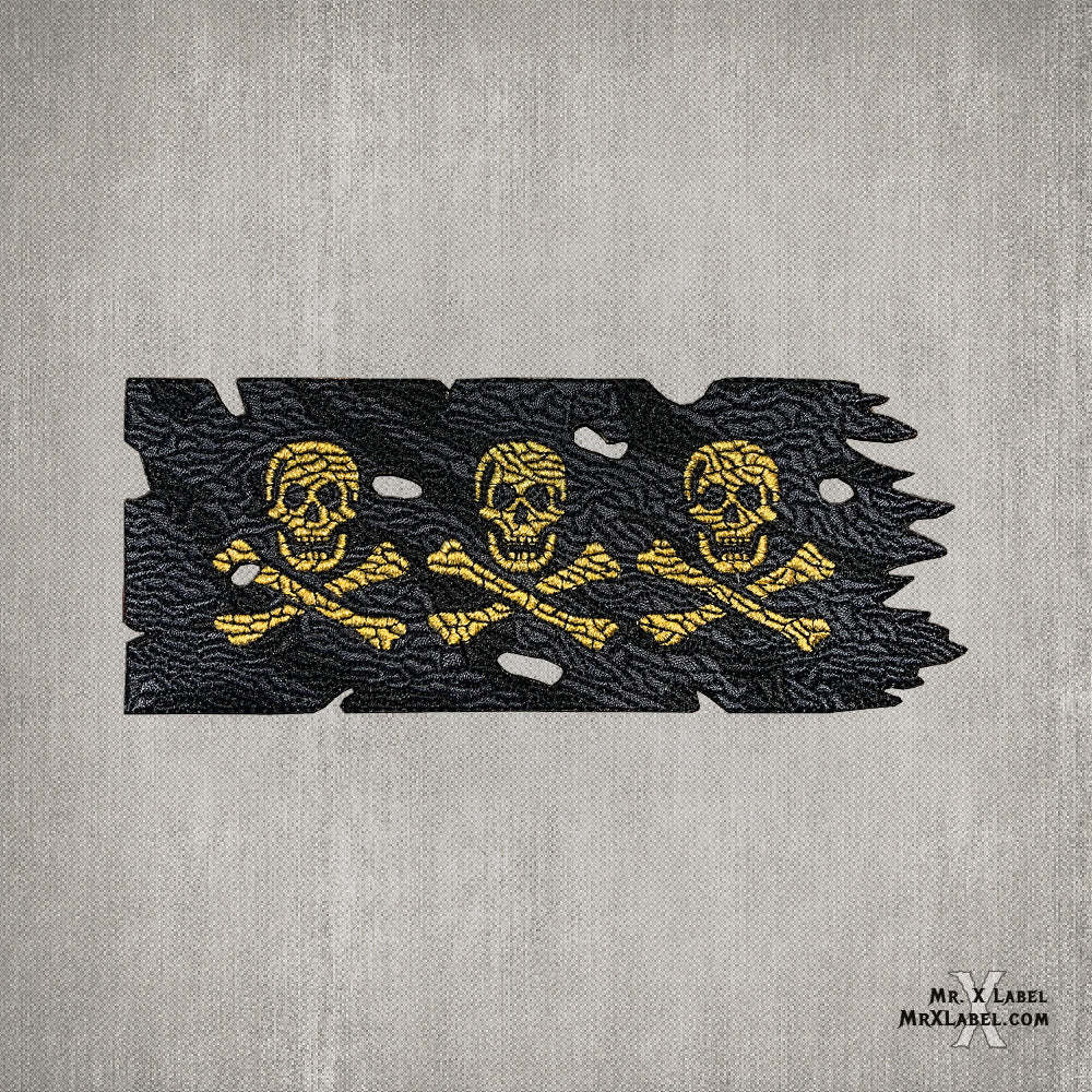 Pirate Flag v3 (Gold and Glow Pack) Embroidered Patches
