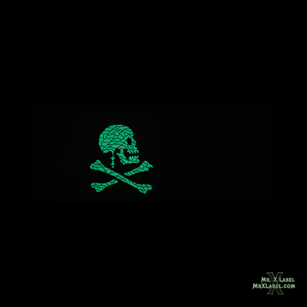 Pirate Flag v4 (Glow) Embroidered Patch