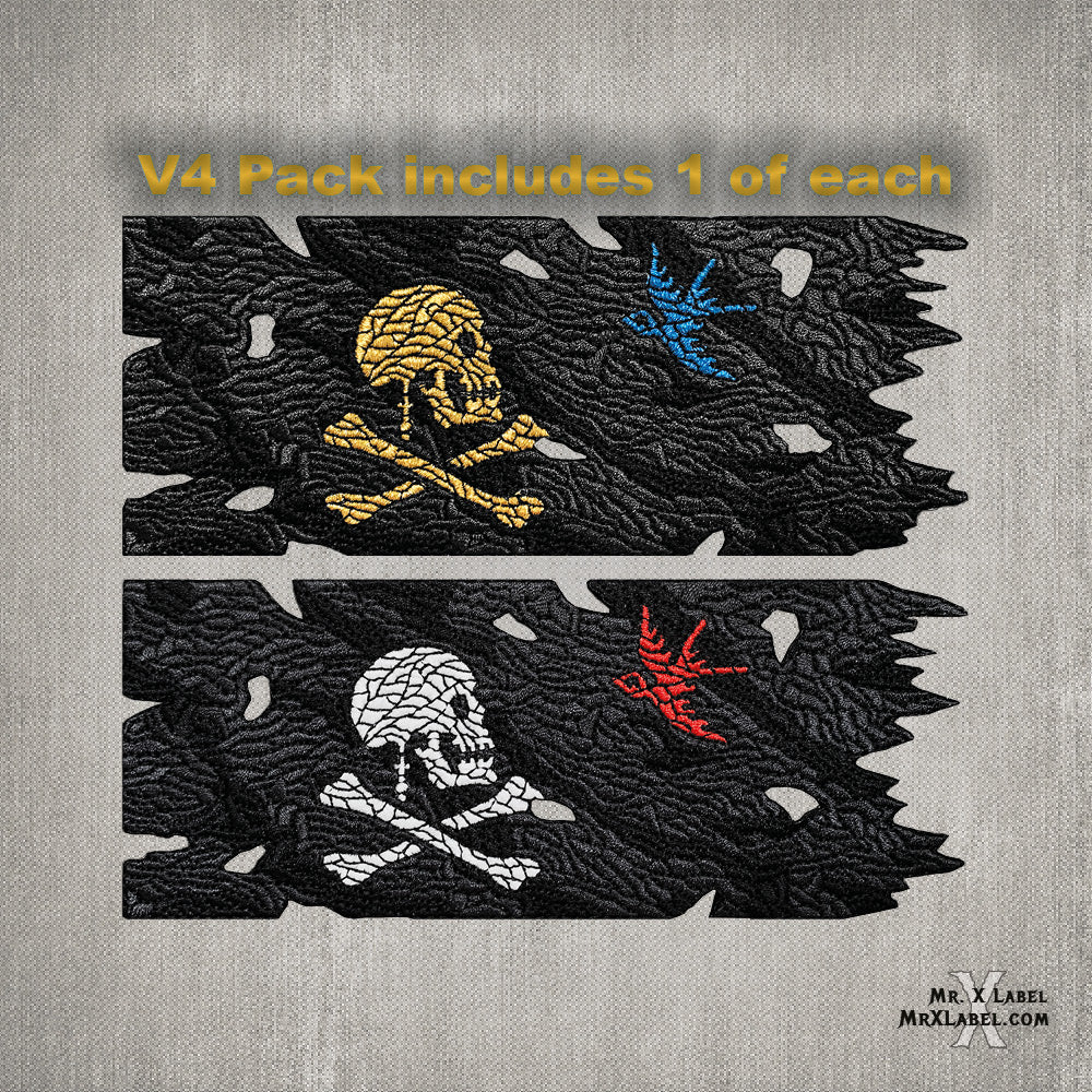 Pirate Flag v4 (Gold and Glow Pack) Embroidered Patches