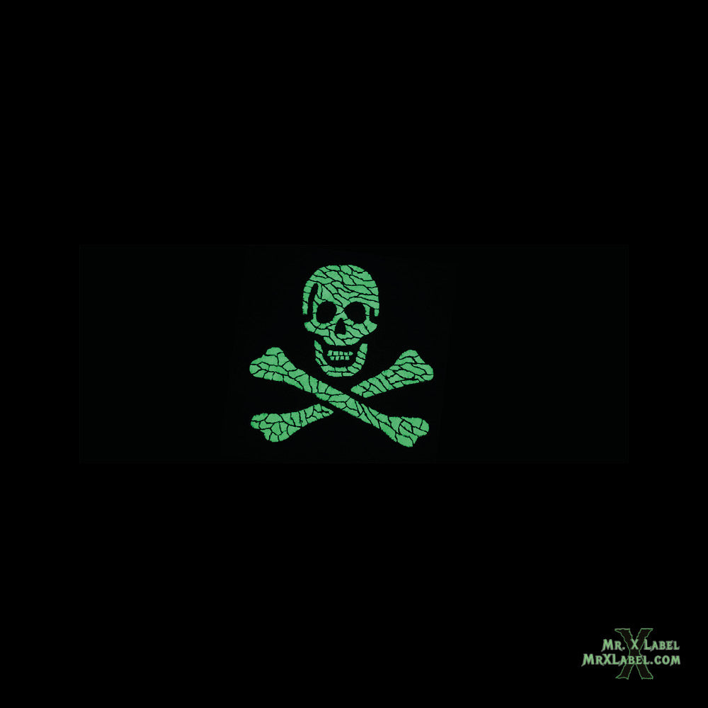 Black Sam Pirate Flag (Glow) Embroidered Patch