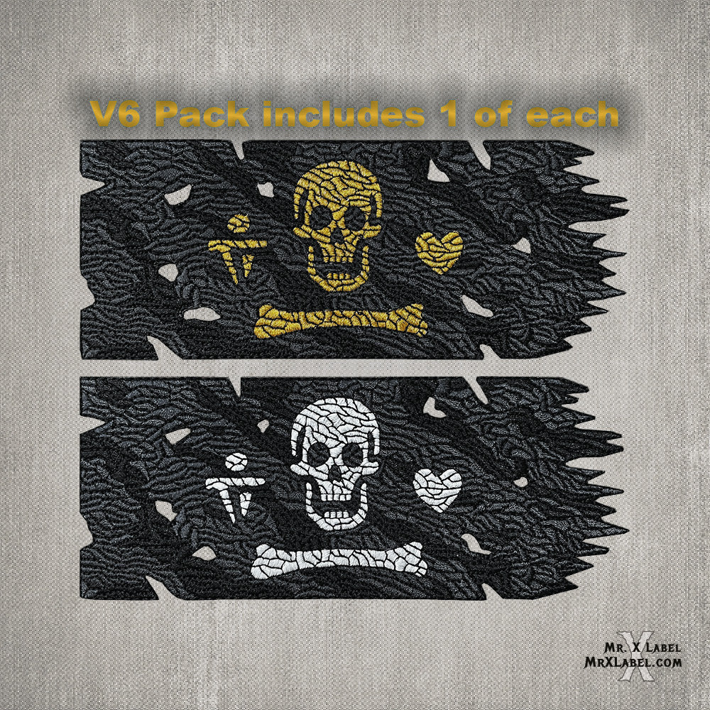 Stede Bonnet Pirate Flag (Gold and Glow Pack) Embroidered Patches