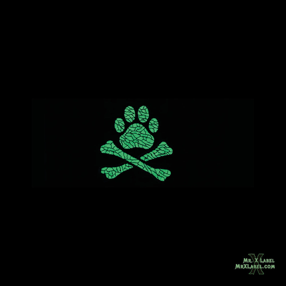 Pirate Flag v.PAW (Glow) Embroidered Patch