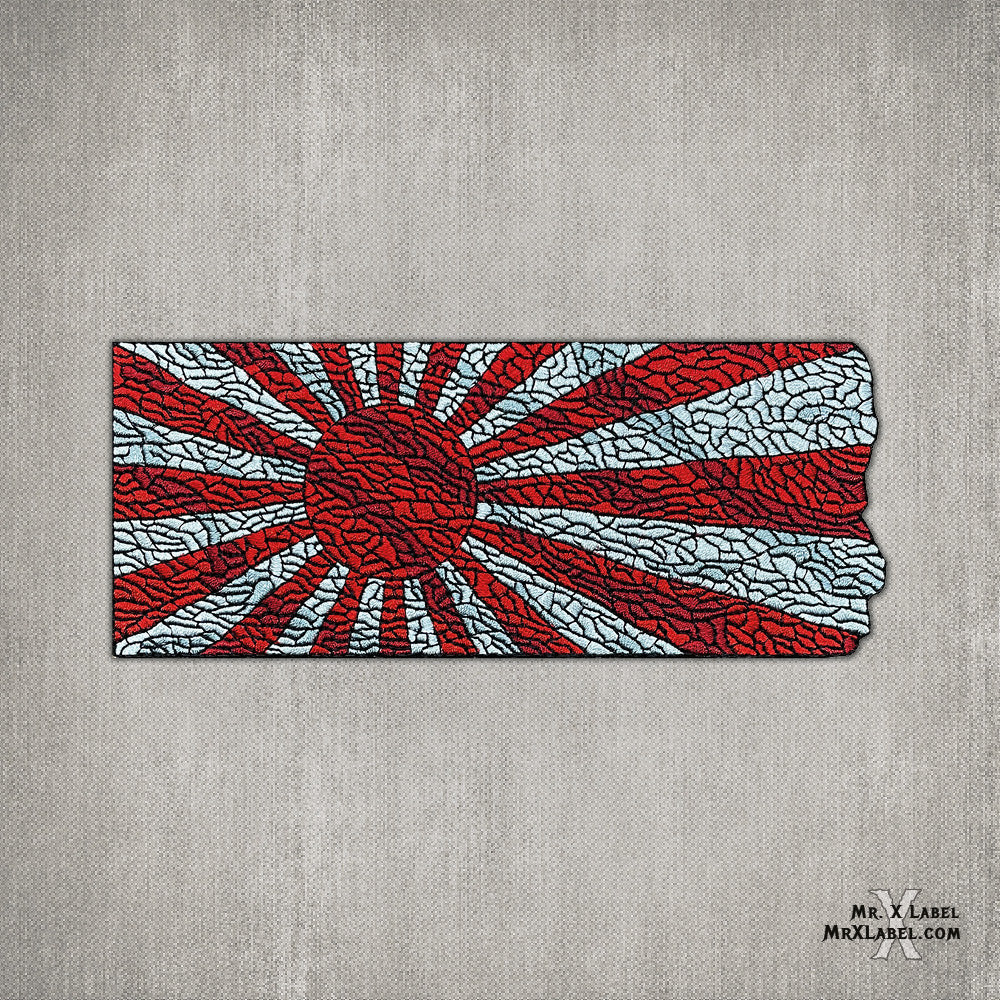 Rising Sun Flag Embroidered Patch