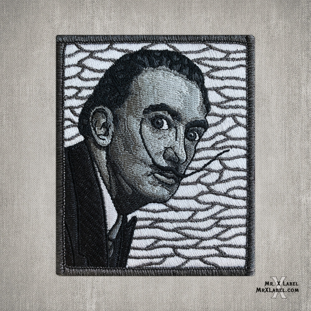 Salvador Dali Portrait Embroidered Patch