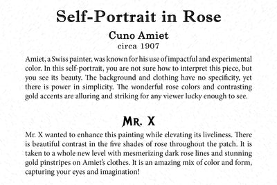 Art Card - Self-Portrait In Rose - Back