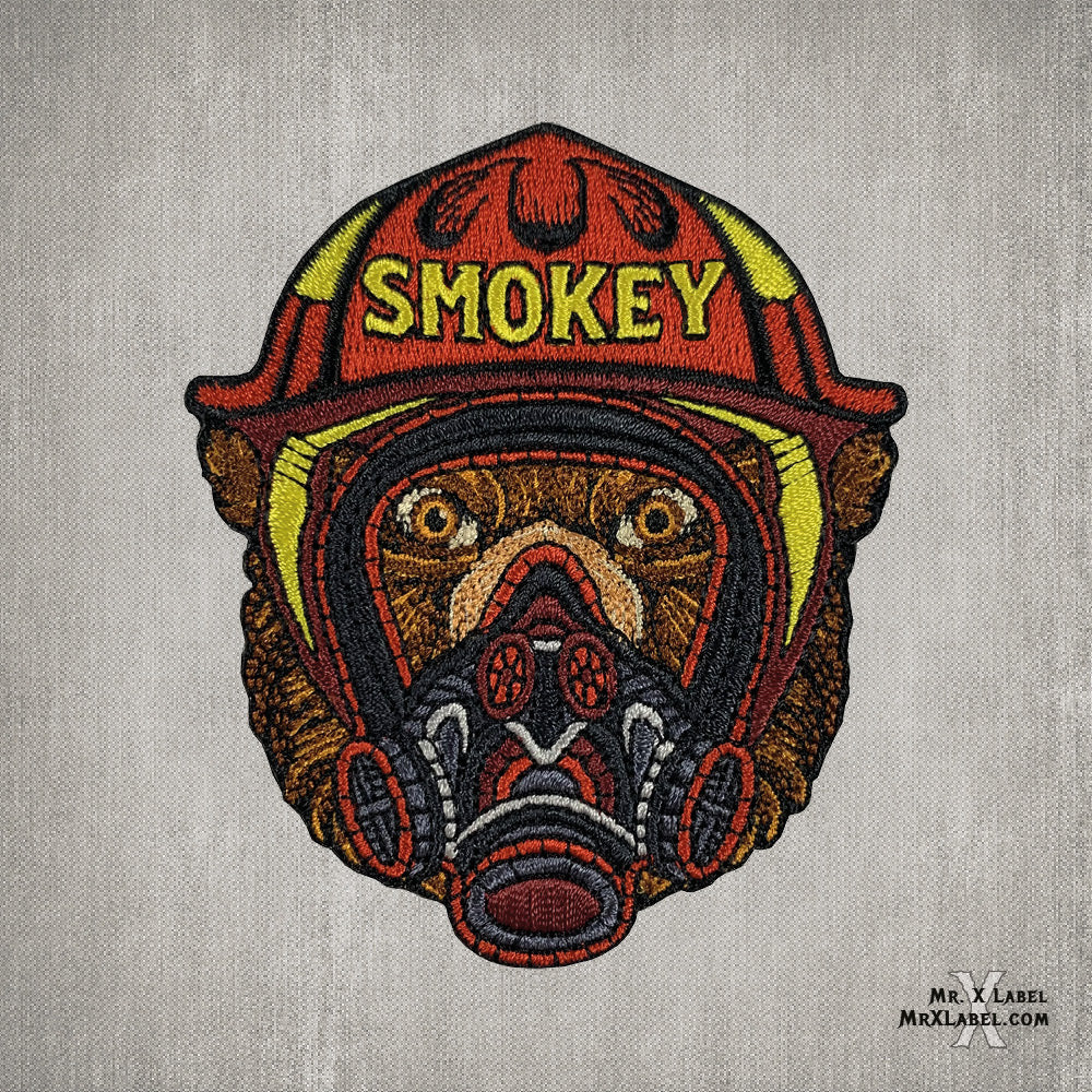 Smokey Mask Embroidered Patch