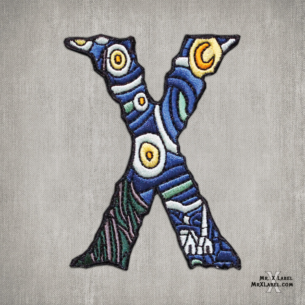 Starry Night X Embroidered Patch