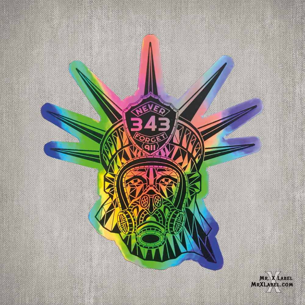 Statue of Liberty 343 - Holographic Sticker