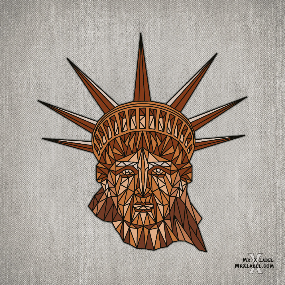 Statue of Liberty Copper Embroidered Patch