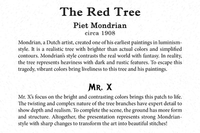 Art Card - The Red Tree - Back