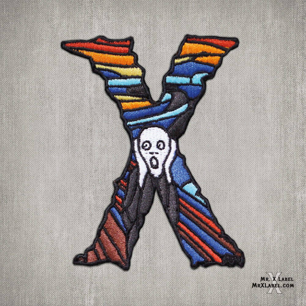 The Scream X Embroidered Patch