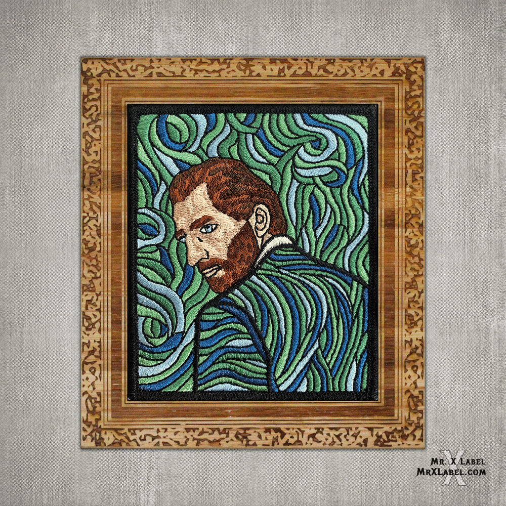 Vincent van Gogh - Self Portrait - Revisited Embroidered Patch