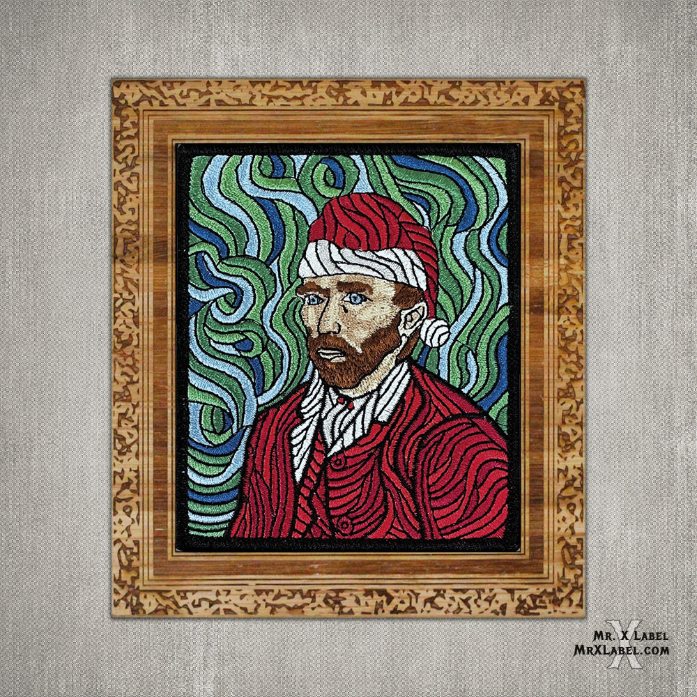 Vincent van Gogh - Self Portrait - XMAS Embroidered Patch