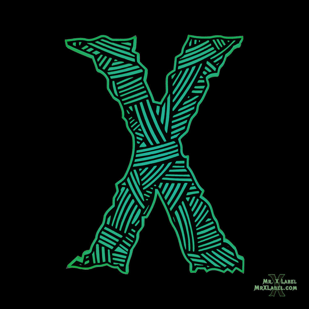 Wrapped X Red Acrylic Patch