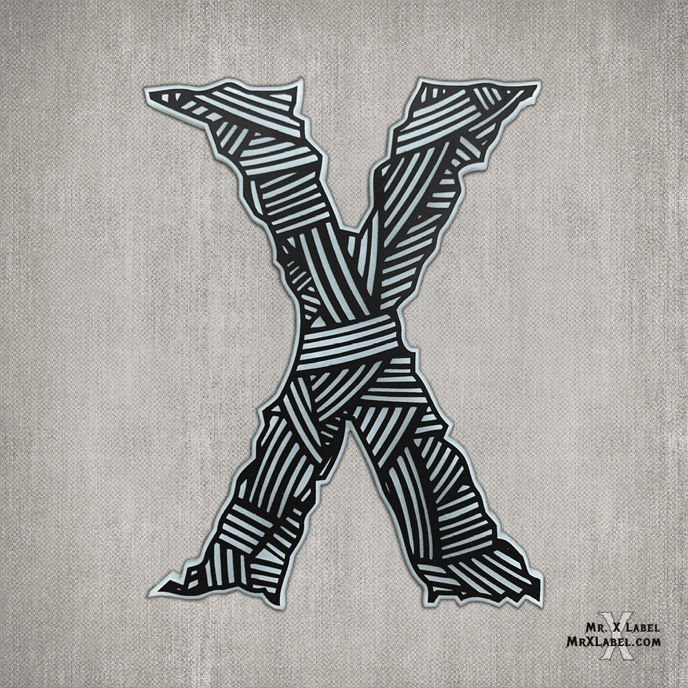 Wrapped X Acrylic Patch
