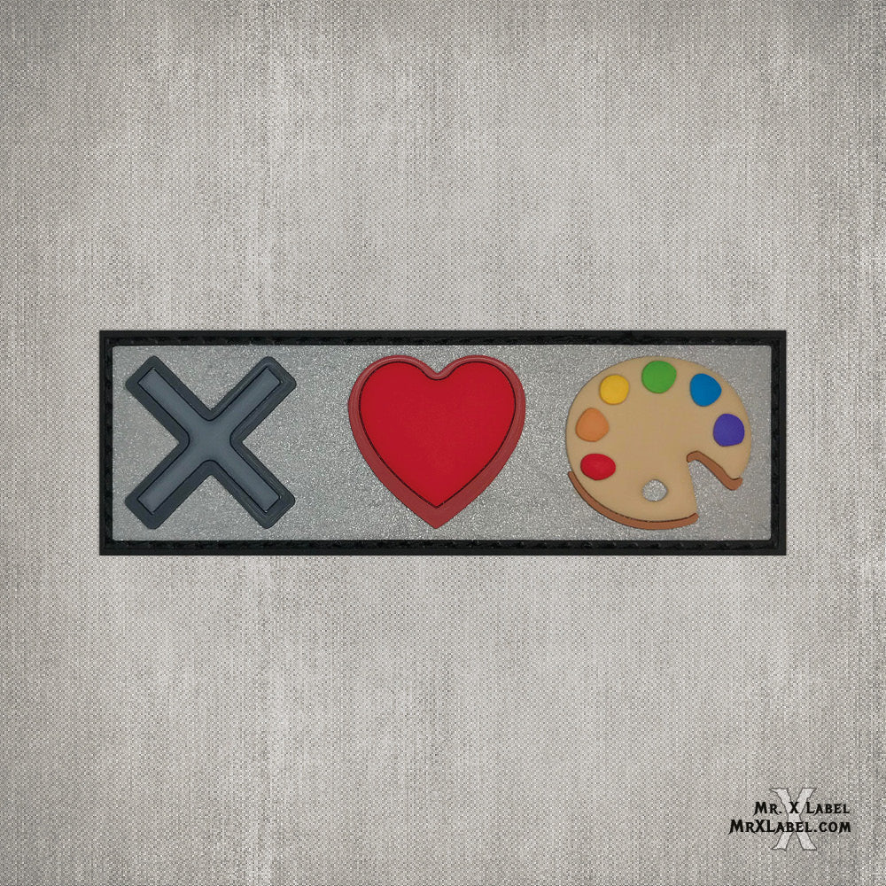X Loves Art PVC Patch