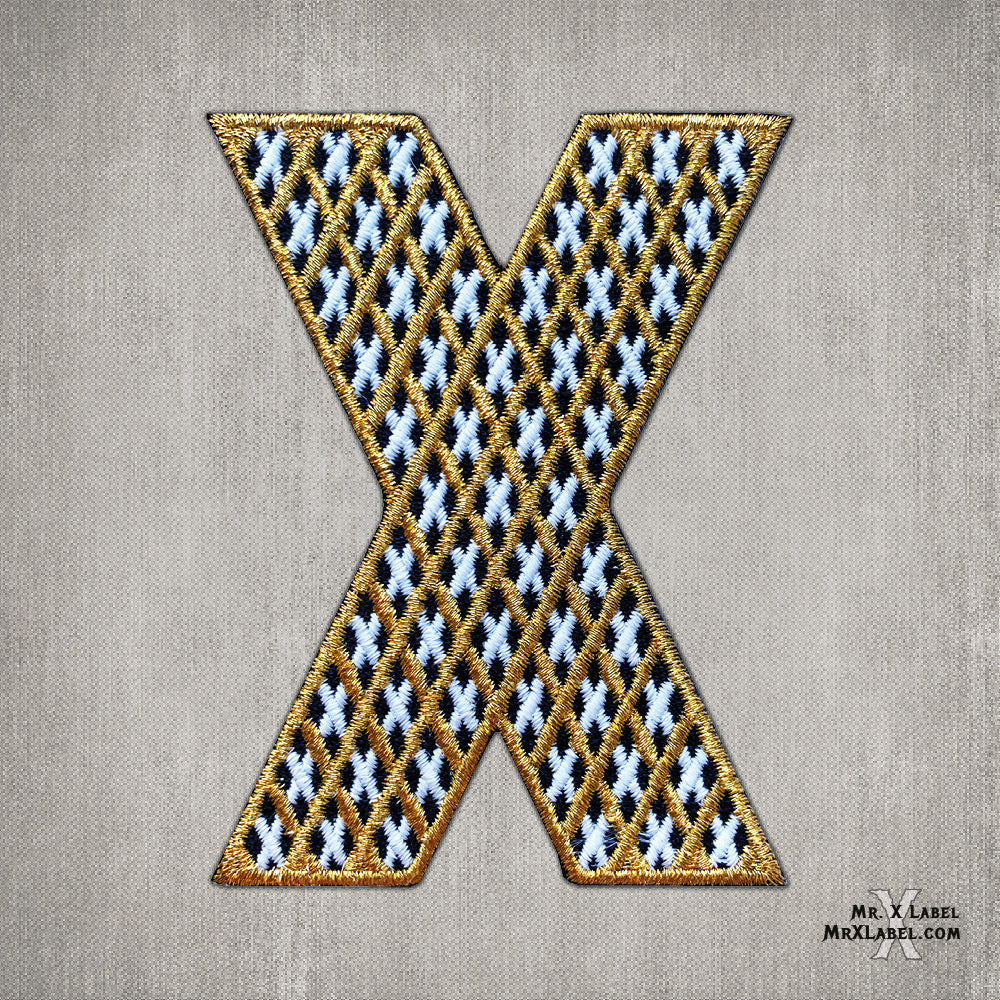 X of Xs v2 - Gold Embroidered Patch