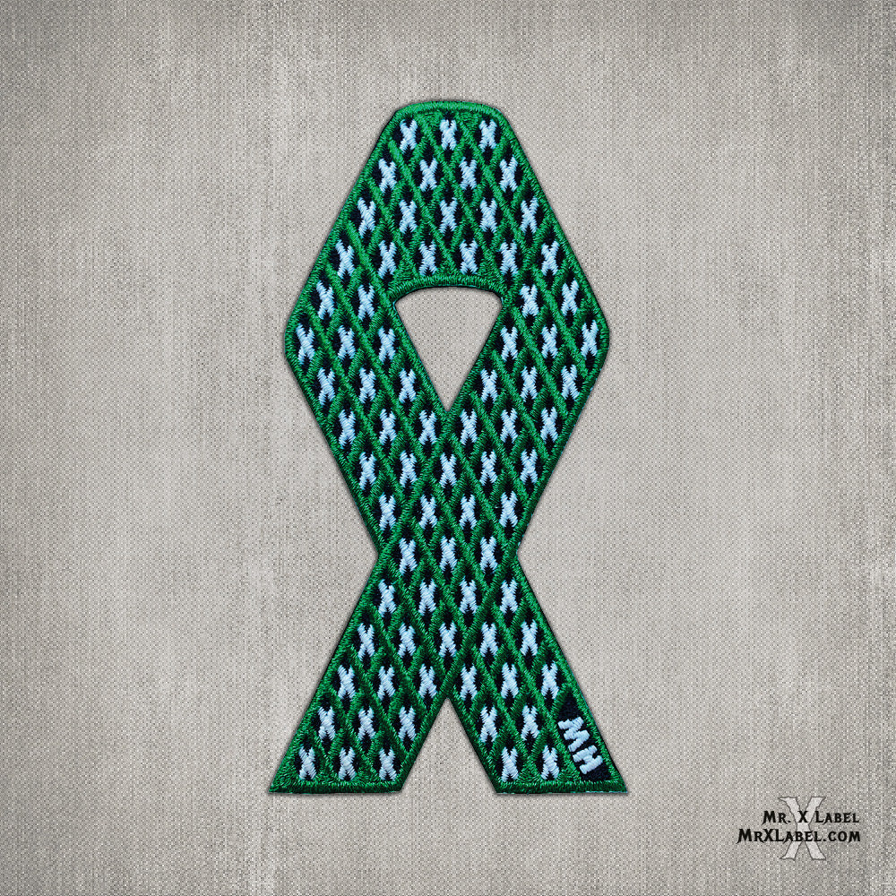 X of Xs v3 - Green Ribbon Embroidered Patch