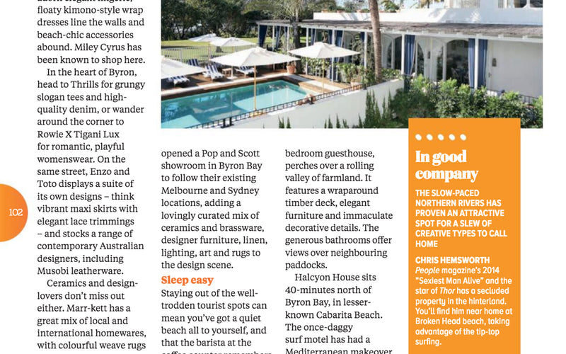Jetstar Magazine Feature - Fletcher St.. Byron's Best Shopping.