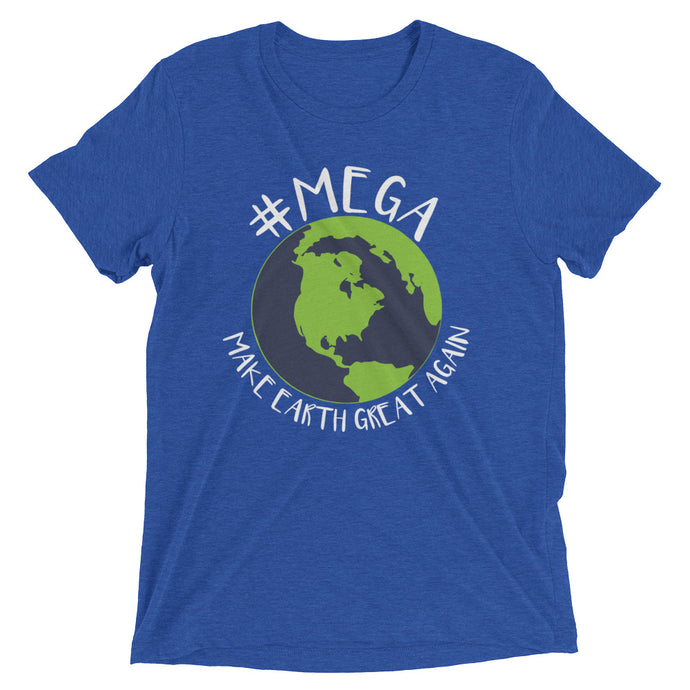 Men's #MEGA Earth T-Shirt (White Letter)