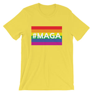 Men's #MAGA LGTBQ Flag T-Shirt