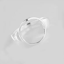 Circle Ring -925 Sterling Silver Adjustable Size