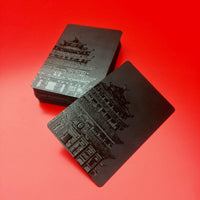 Waterproof Black 3D Embossed Poker Cards