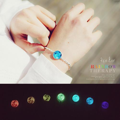 ★Silver 925★RAINBOW MOON THERAPY Bracelet[for Best friends][for Couple]