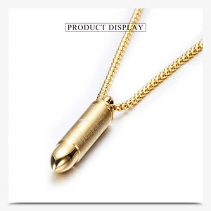 The Lords Prayer Vintage Bullet Necklace -Mid-Year Sale_ 07-15