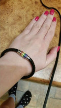 LGBT Rainbow Leather Bracelet Buy 1 take 1