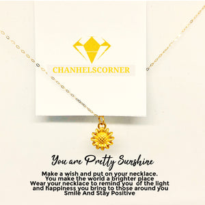 18K DAINTY SUNFLOWER NECKLACE