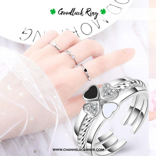 Zaika 3-IN-1 ELEGANT FOUR LEAF CLOVER RING + Free Gift