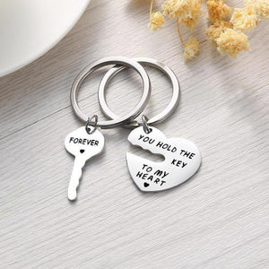 YOU HOLD THE KEY TO MY HEART FOREVER KEY CHAIN SET