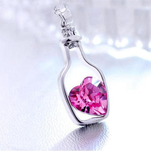 Love in a Bottle - Crystal Necklace (BUY 1 TAKE 1)