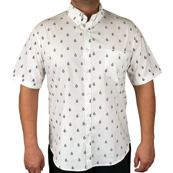 Boosted Status Turbo Button-Front Shirt - White