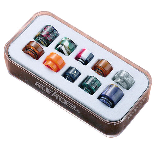 A set of Mixed colour and size 510 and 810 drip tips