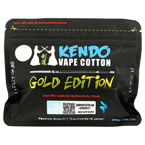 Kendo 100% Japanese Organic Vape Cotton Gold Edition
