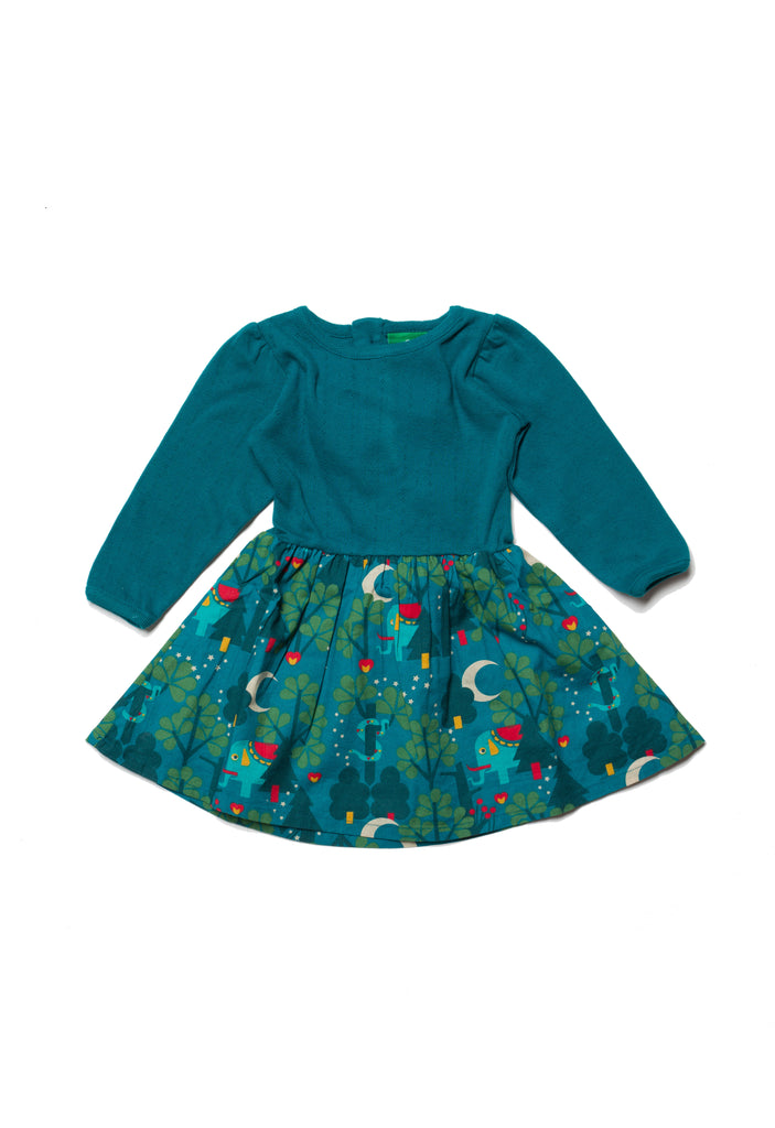 Midnight Jungle Peter Pan Dress - Little Cotton Cloud