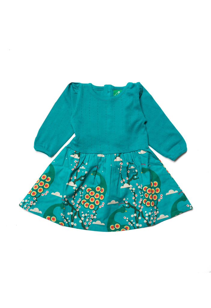 Midnight Peacocks Peter Pan Dress - Little Cotton Cloud
