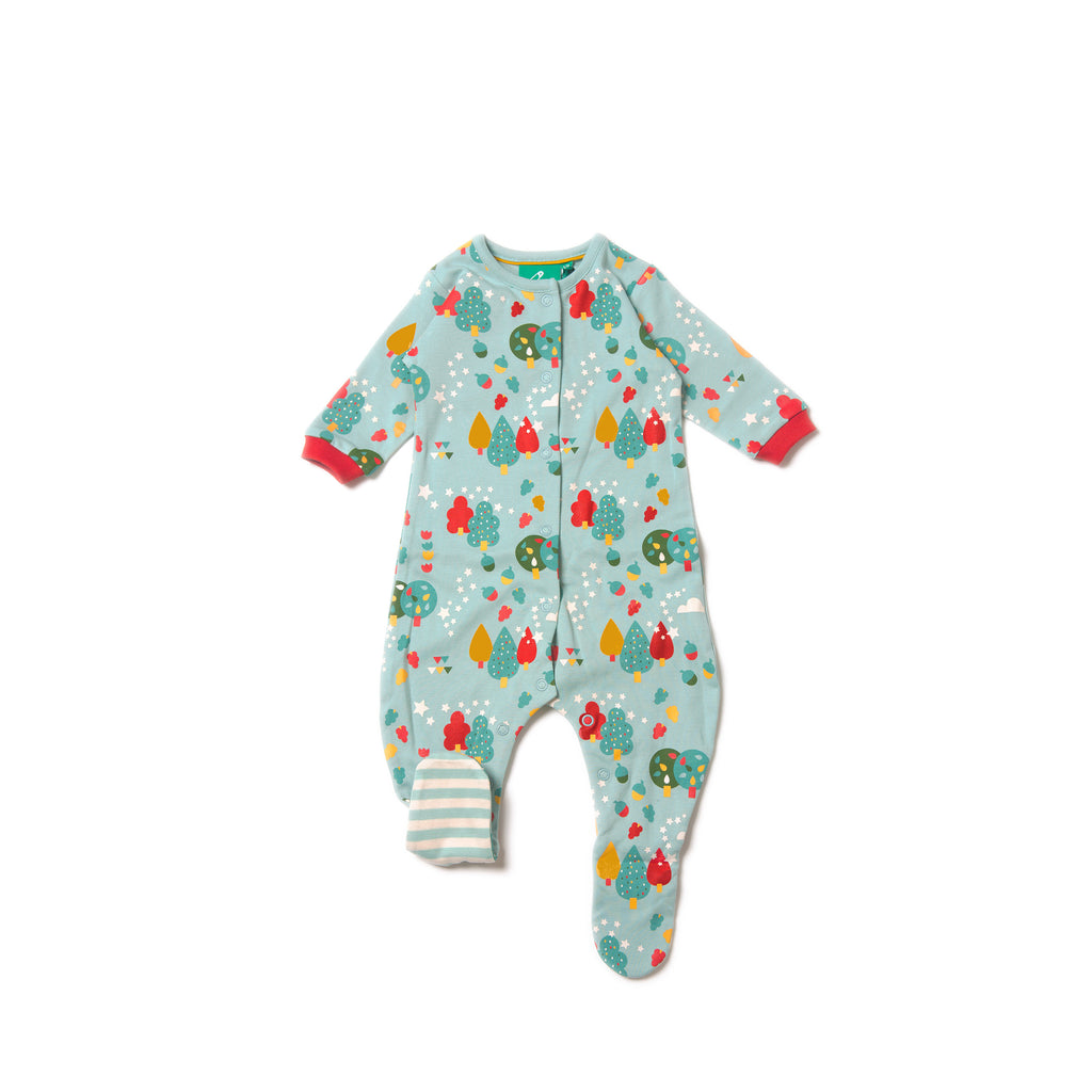 Falling Leaves Babygrow - Little Cotton Cloud