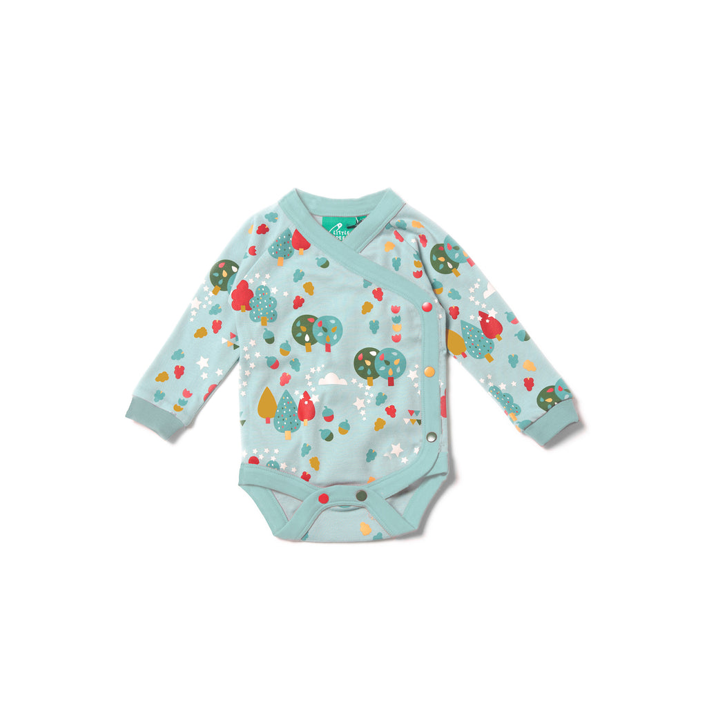 Falling Leaves Wrap Baby Body - Little Cotton Cloud