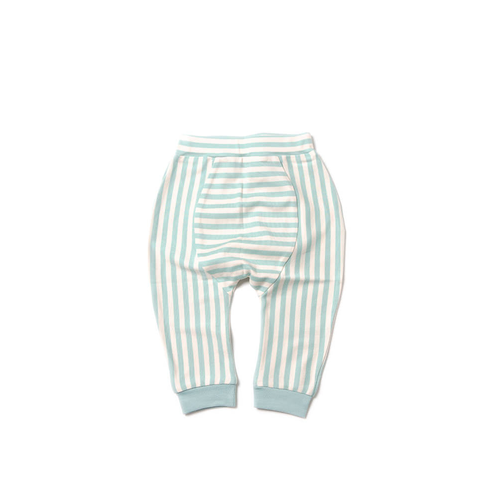 Aqua Sky Stripe Jelly Bean Jogger - Little Cotton Cloud
