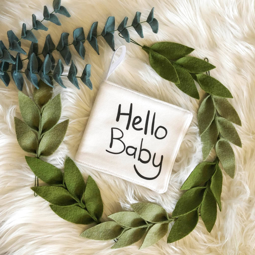 Organic cotton hello baby book - Little Cotton Cloud