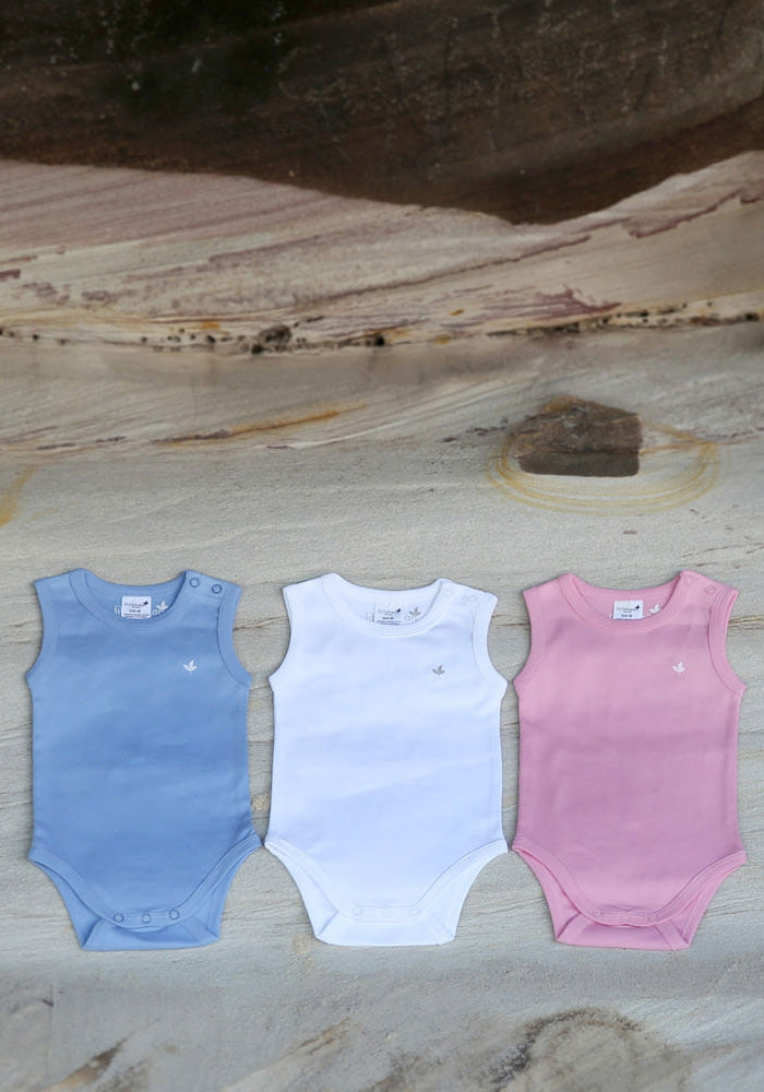 Essential Blue Singlet Bodysuit - Little Cotton Cloud