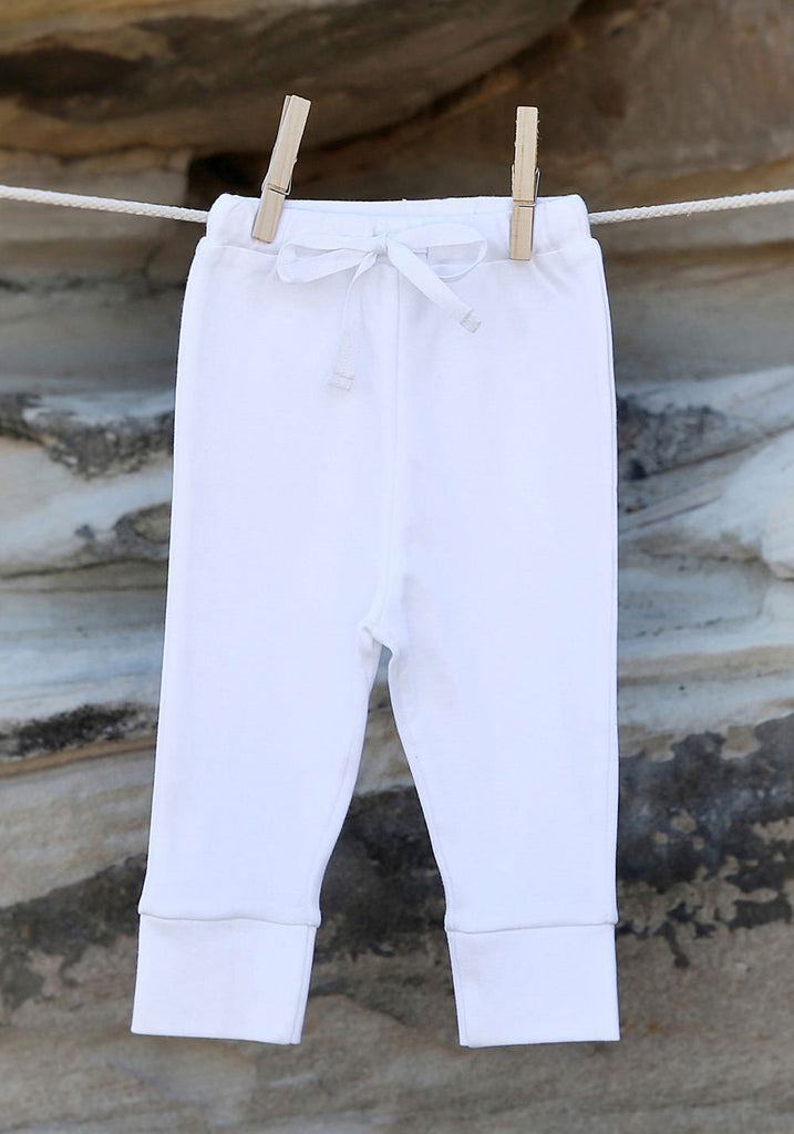 Essential White Leggings - Little Cotton Cloud