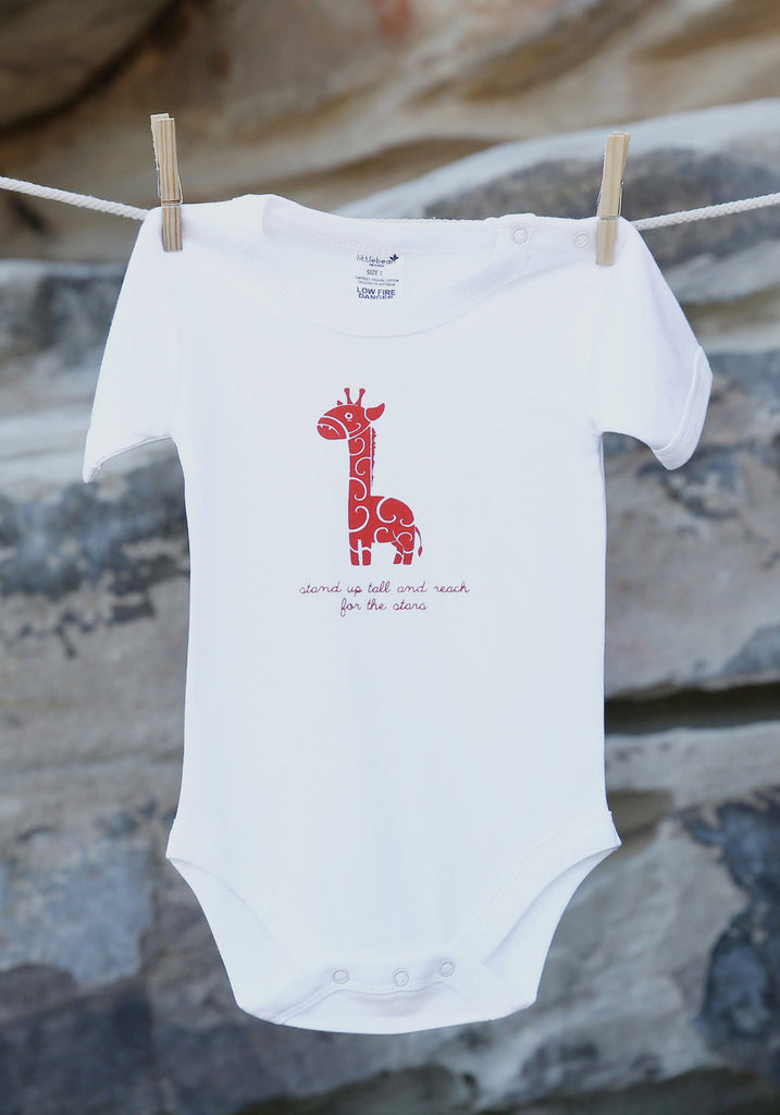Happy Animal Giraffe Short Sleeve Bodysuit - Little Cotton Cloud